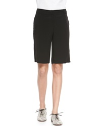 Eileen Fisher Twill Long Shorts Black