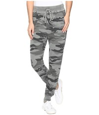 Splendid Camo Jogger V Military Olive Women's Casual Pants Gray