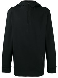 Public School Zipped Neck Hoodie Black