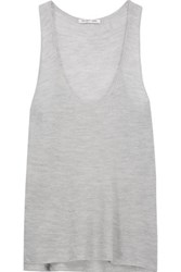 Helmut Lang Open Knit Cashmere Tank Stone