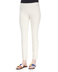 The Row Skinny Side Zip Pants Natural