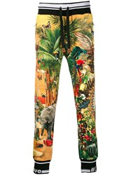 Dolce And Gabbana Printed Track Pants Yellow