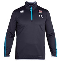 Canterbury Of New Zealand Thermoreg Long Sleeve England Training Rugby T Shirt Grey Blue