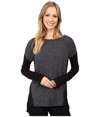 Sanctuary Veronica Rib Runner Top Charcoal Grey Women's Clothing Gray