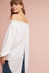Anthropologie Tantira Off The Shoulder Tunic White