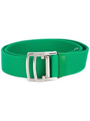 Dsquared2 Military Buckle Belt Women Polyester 80 Green