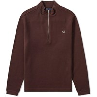 Fred Perry Funnel Neck Zip Sweat Burgundy