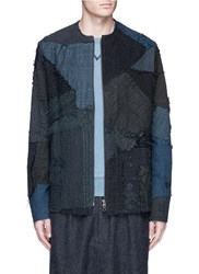 By Walid 'Liam' One Of A Kind Patchwork Blouson Jacket Grey