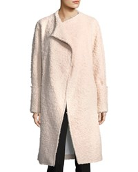 Elizabeth And James Paloma Wide Cuffed Wool Blend Long Coat Light Pink