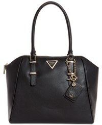 Guess Marisole Uptown Large Satchel Black