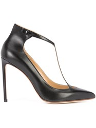 Francesco Russo T Strap Pumps Black