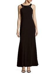 Js Collections Ottoman Mermaid Gown Black