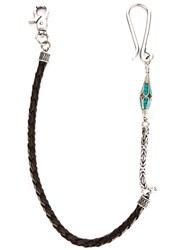 Andrea D'amico Pendant Detail Interlaced Keychain Brown