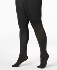 Berkshire Plus Size Max Coverage Easy On Queen Tights Black