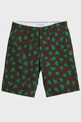 J.W.Anderson Jw Anderson All Over Hearts Cotton Shorts Brown