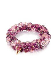 Antica Murrina Veneziana Rubik Murano Glass Drops Stretch Bracelet Amethyst