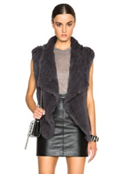 Nicholas Knitted Fur Vest In Gray