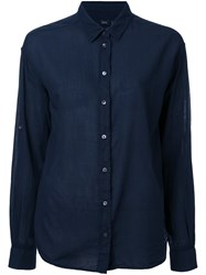 Closed Crinkle Shirt Blue