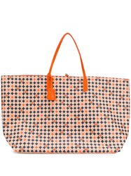 By Malene Birger Large Mosaic Print Tote Pink