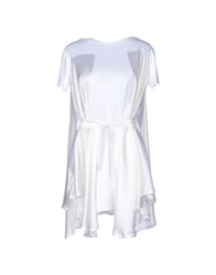 Paolo Errico Short Dresses White