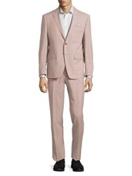 Tallia Orange Mason Slim Fit Plaid Wool Suit Brick White