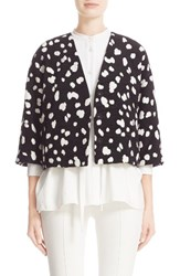 Adam By Adam Lippes Women's Dot Jacquard Crop Jacket