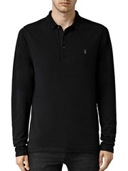 Allsaints Reform Long Sleeve Polo Shirt Black