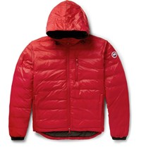 Canada Goose Lodge Packable Shell Hooded Down Jacket Red