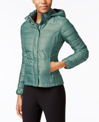 32 Degrees Packable Down Puffer Coat A Macy's Exclusive Mineral Green Shiny Melange