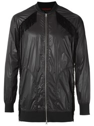 A La Garconne Fringed Bomber Jacket Men Polyamide M Black