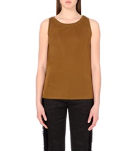 Sandro Taste Sleeveless Jersey Top Bronze