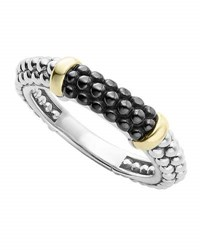 Lagos Caviar Ceramic Stacking Ring Black