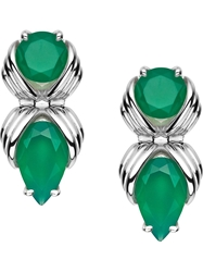 Shaun Leane 'Bound' Green Onyx Earrings Metallic