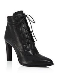 Stuart Weitzman Ruggy High Heel Lace Up Booties Black