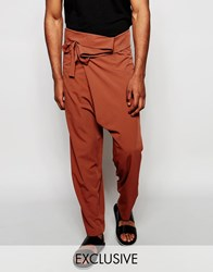 Reclaimed Vintage Wrap Pants Copper
