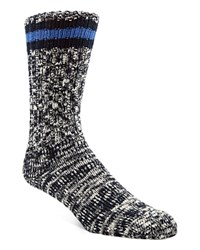 Cole Haan Marled Hiking Socks Navy Mix