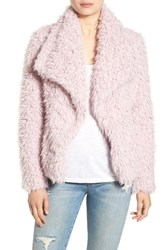 Betsey Johnson Women's Faux Fur Jacket Powder Puff