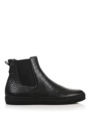 Christopher Kane Crocodile Effect Leather Boots