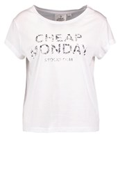 Cheap Monday Print Tshirt White
