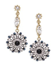 Gerard Yosca Floral Cluster Drop Earrings Gold