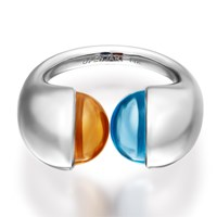 Openjart Topaz Meets Citrine Ring Gold