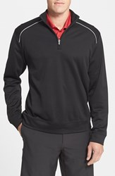 Men's Big And Tall Cutter And Buck 'Weathertec Ridge' Water Repellant Half Zip Jacket