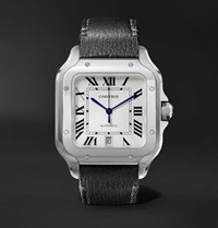 Cartier Santos 39.8Mm Interchangeable Stainless Steel And Leather Watch White