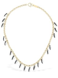 Isabel Marant Amer Charm Chocker Necklace Silver