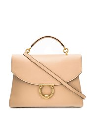 Salvatore Ferragamo Gancini Top Handle Bag Neutrals