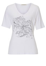 Betty Barclay T Shirt With Embellished Motif Grey