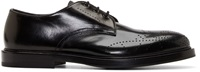 Alexander Mcqueen Black Leather Perforated Derbys