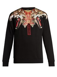 Marcelo Burlon Victor Cotton Jersey Sweatshirt Black Multi