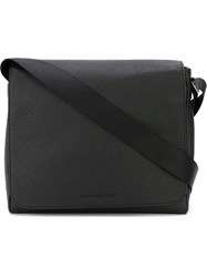 Emporio Armani Foldover Messenger Bag Black