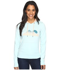 The North Face Nse Sunrise Lightweight Pullover Hoodie Windmill Blue Heather Women's Sweatshirt Green